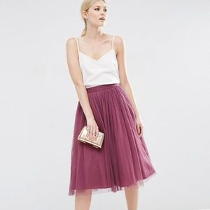 ASOS Little Mistress Tulle Midi Prom Skirt